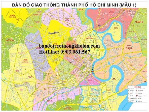 Bản đồ giao thông TpHCM khổ lớn