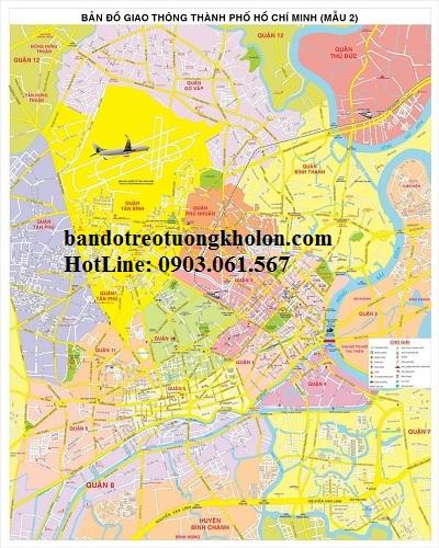 Bản đồ giao thông TpHCM khổ lớn 2