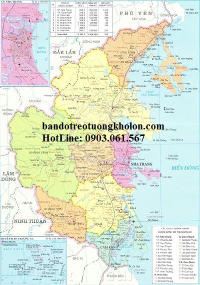 Bản đồ hành chính Khánh Hòa khổ lớn