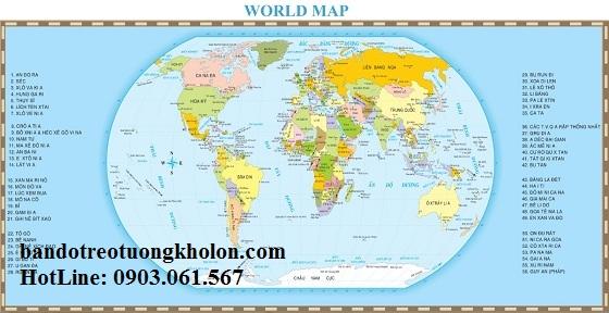 Bản đồ thế giới khổ lớn mẫu 26