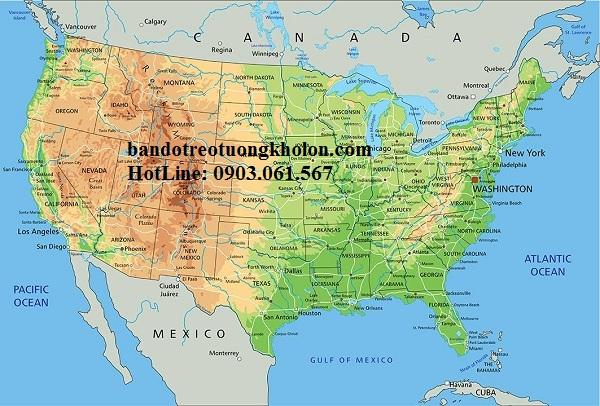Bản đồ nước Mỹ khổ lớn