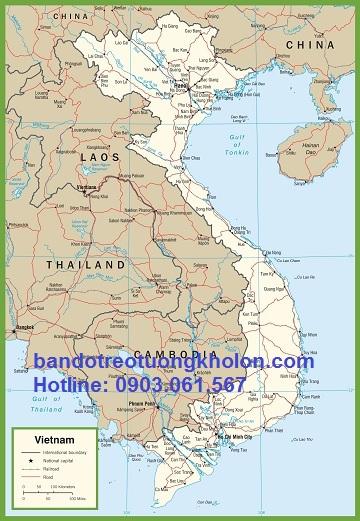 Bản đồ Việt Nam Khổ (cỡ) lớn - nhỏ