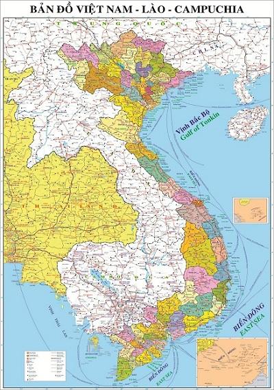 Bản Đồ Việt Nam Lào Campuchia