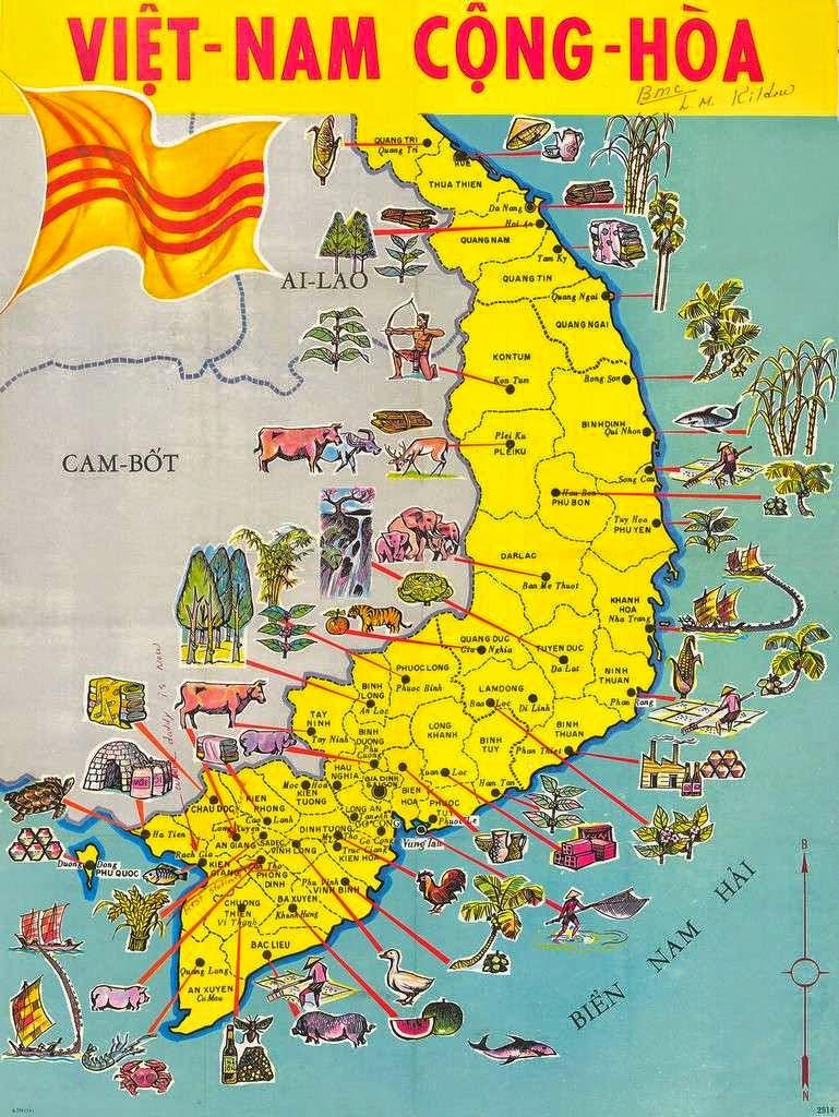 Bản đồ Việt Nam Cộng Hòa thời Pháp