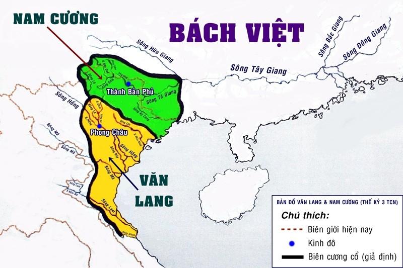 Bản đồ Việt Nam Thời Hồng Bàng