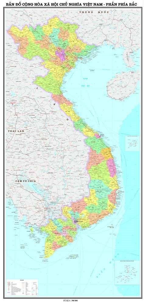 Bản đồ 64 tỉnh thành của Việt Nam