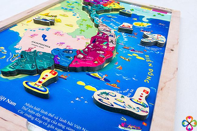 Bản đồ thế giới trang trí sinh động hấp dẫn dành cho bé