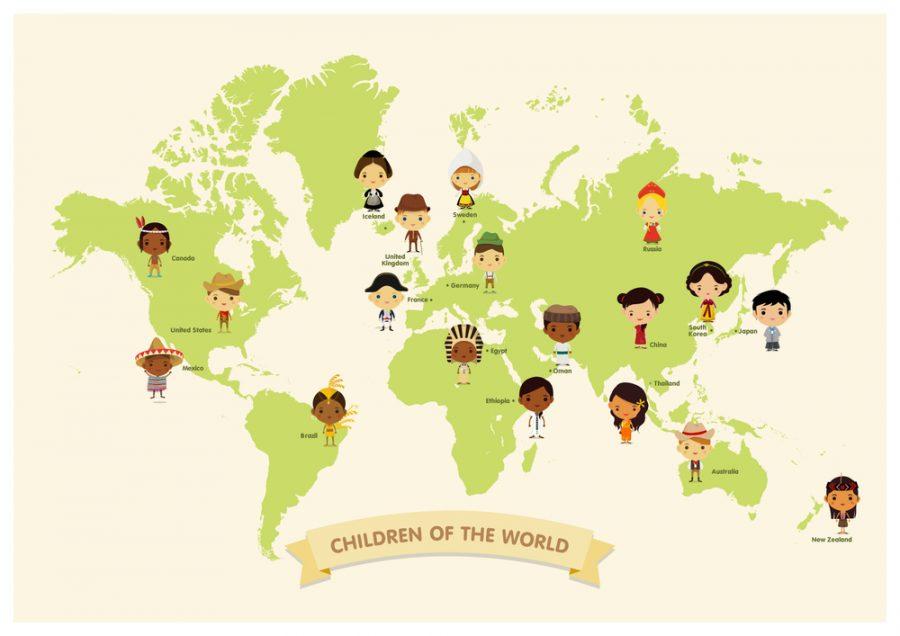 Lợi ích của các tấm bản đồ thế giới dành cho trẻ em