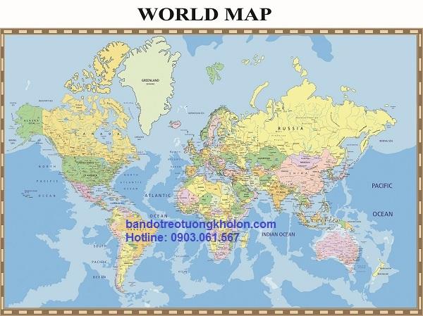 chuyên bán bản đồ thế giới