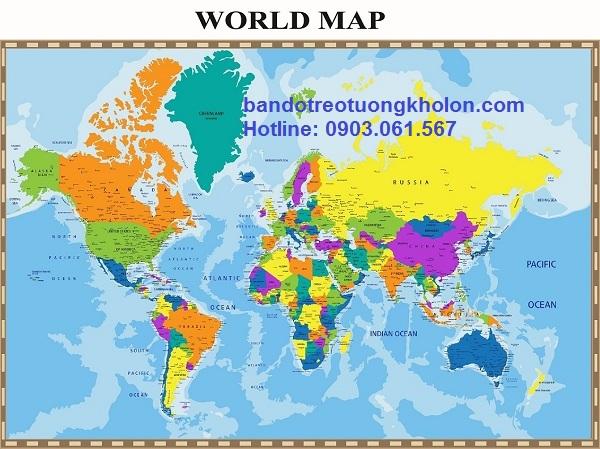 bản đồ treo tường khổ lớn