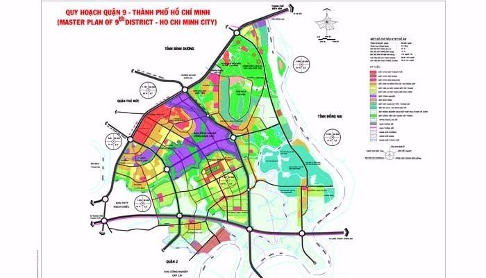 Bản đồ quy hoạch quận 9 tính đến năm 2020