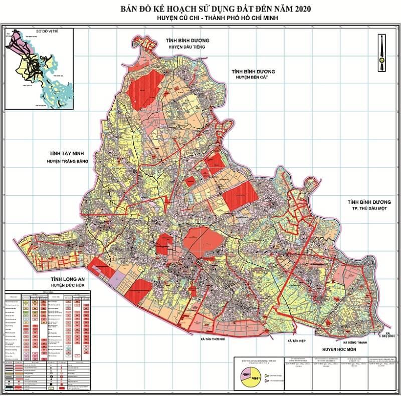 bản đồ quy hoạch huyện Củ Chi