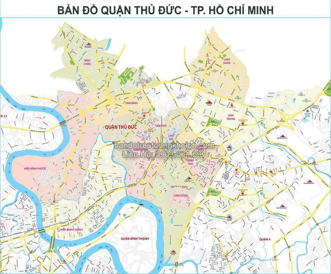 ban do quan Thu Duc thanh pho Ho Chi Minh