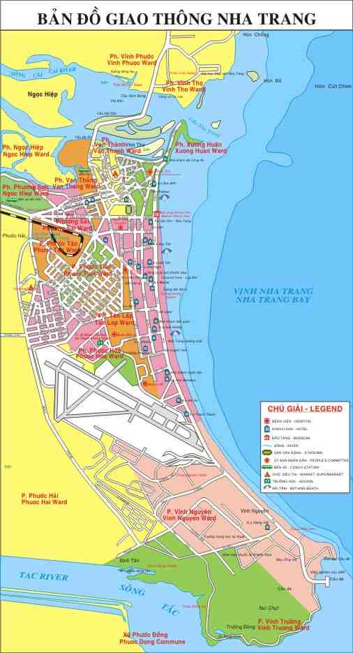 Bản đồ giao thông Nha Trang khổ lớn