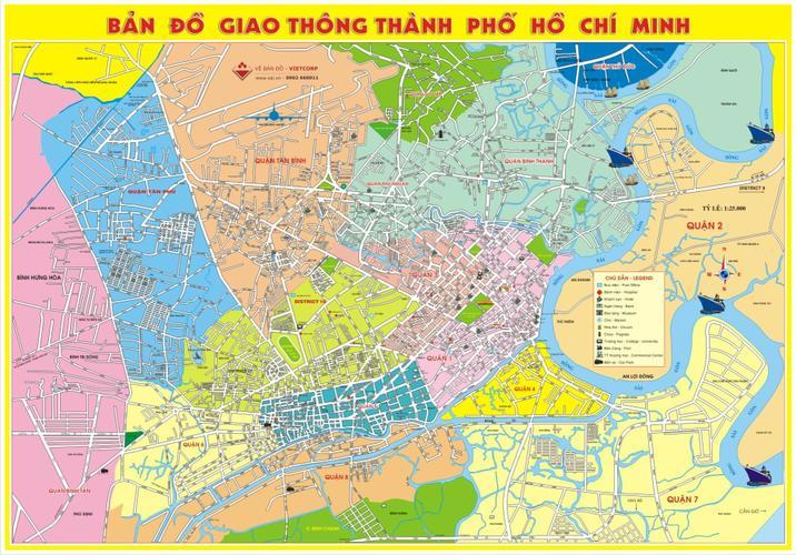 Bản đồ giao thông TpHCM khổ lớn 4