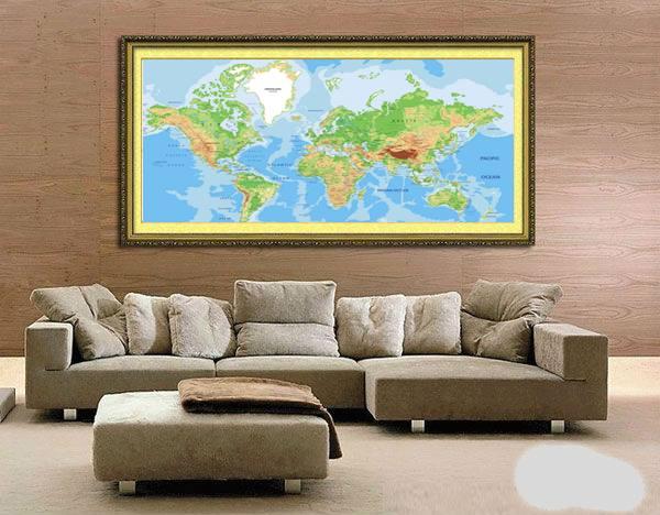 bản đồ thế giới khổ lớn hoàn thiện 1