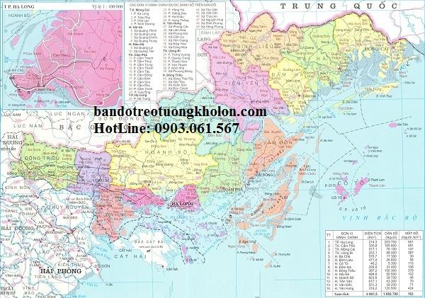 Bản đồ hành chính Quảng Ninh khổ lớn