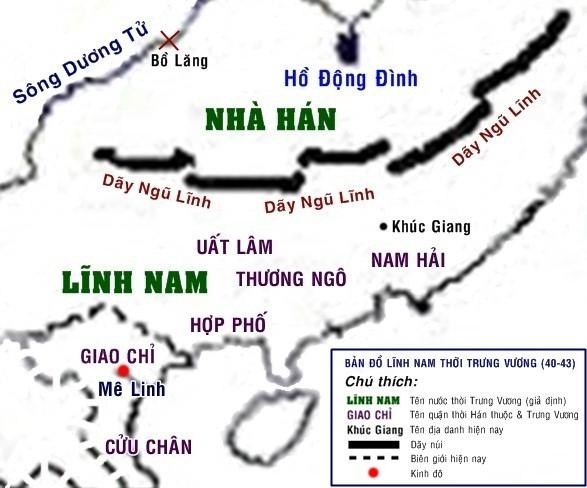 Bản đồ Việt Nam Thời Bắc Thuộc