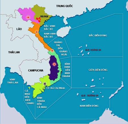 Cận Cảnh Chi Tiết Biển đảo Bản đồ Việt Nam