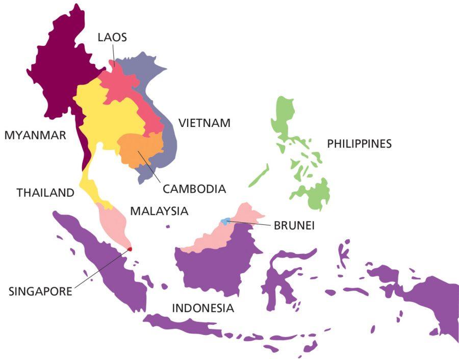 Đặc điểm của khu vực Đông Nam Á trên bản đồ thế giới