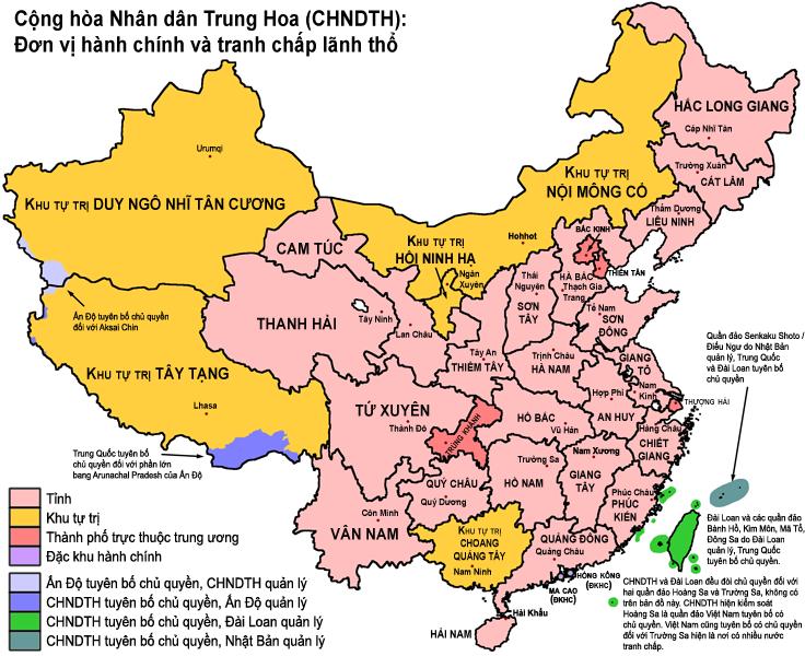 Trung Quốc trên bản đồ thế giới