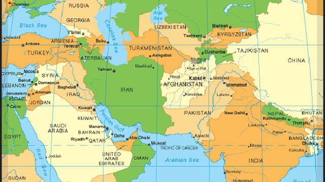 Vùng trung đông trên bản đồ thế giới có gì nổi bật?