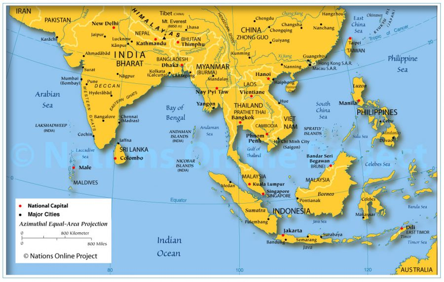 Châu Á trên bản đồ thế giới có đặc điểm gì nổi bật?