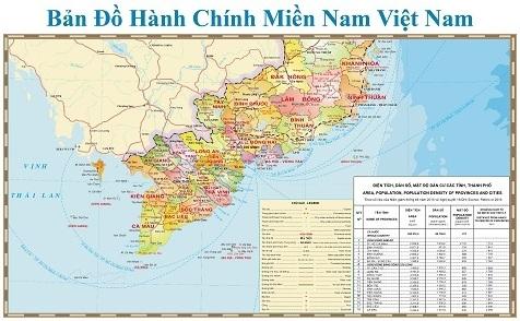 bản đồ miền nam khổ lớn