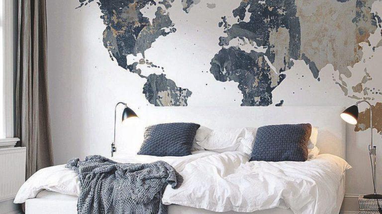 trang trí nhà bằng bản đồ thế giới châu Á