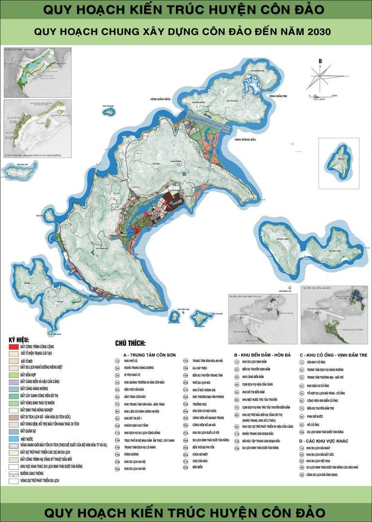 bản đồ hành chính Côn Đảo