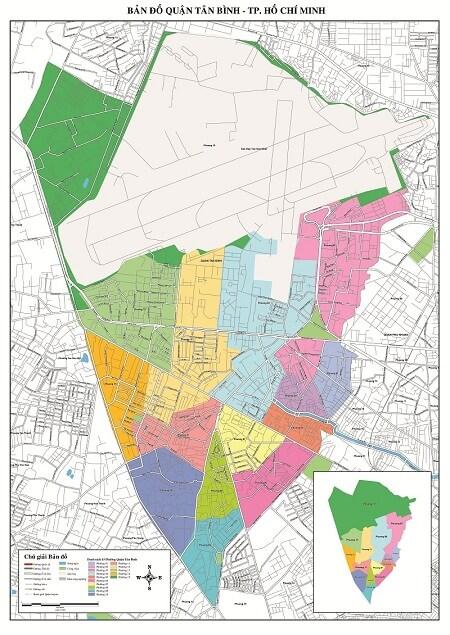 Bản Đồ Quận Tân Bình TPHCM Về Giao Thông Hành Chính