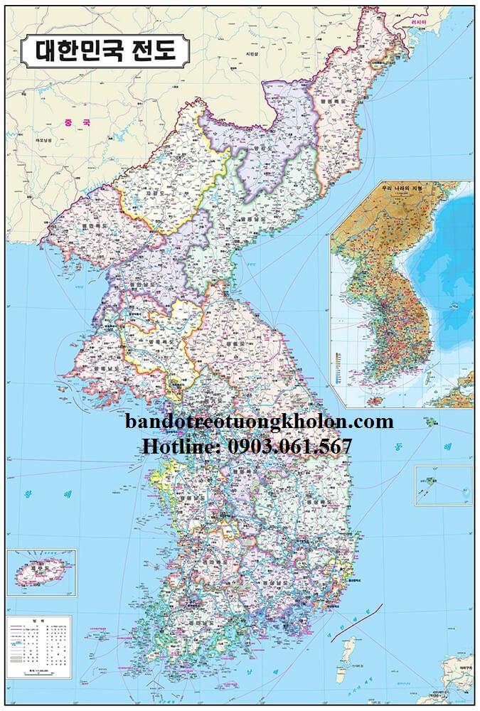 Bản Đồ Hàn Quốc