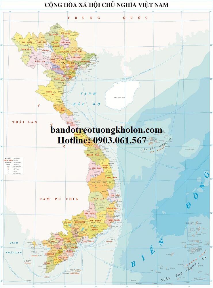 Bản Đồ Việt Nam Giấy Couche