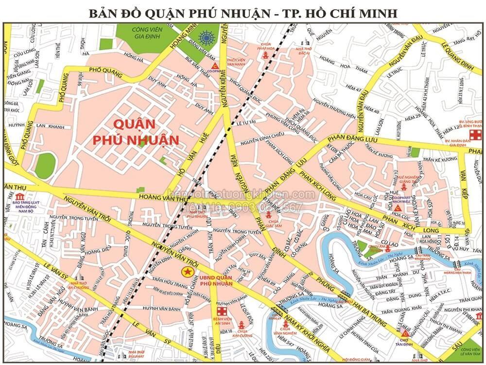 Ban do quan Phu Nhuan thanh pho ho chi minh