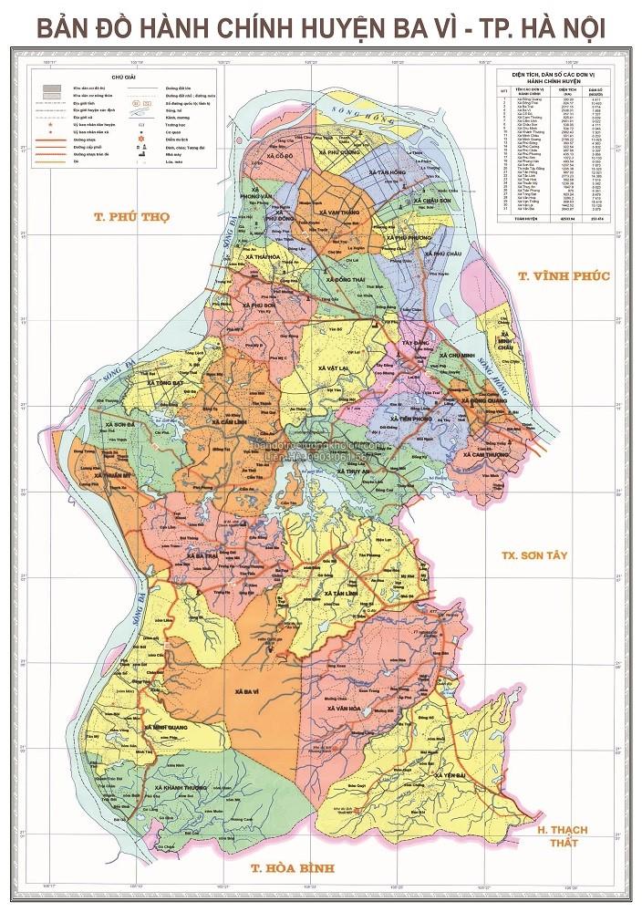 Bản Đồ Huyện Ba Vì Thủ Đô Hà Nội