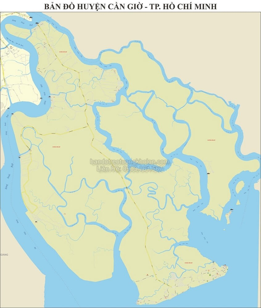 Bản Đồ Huyện Cần Giờ Thành Phố Hồ Chí Minh