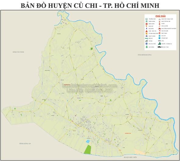 Bản Đồ Huyện Củ Chi Thành Phố Hồ Chí Minh