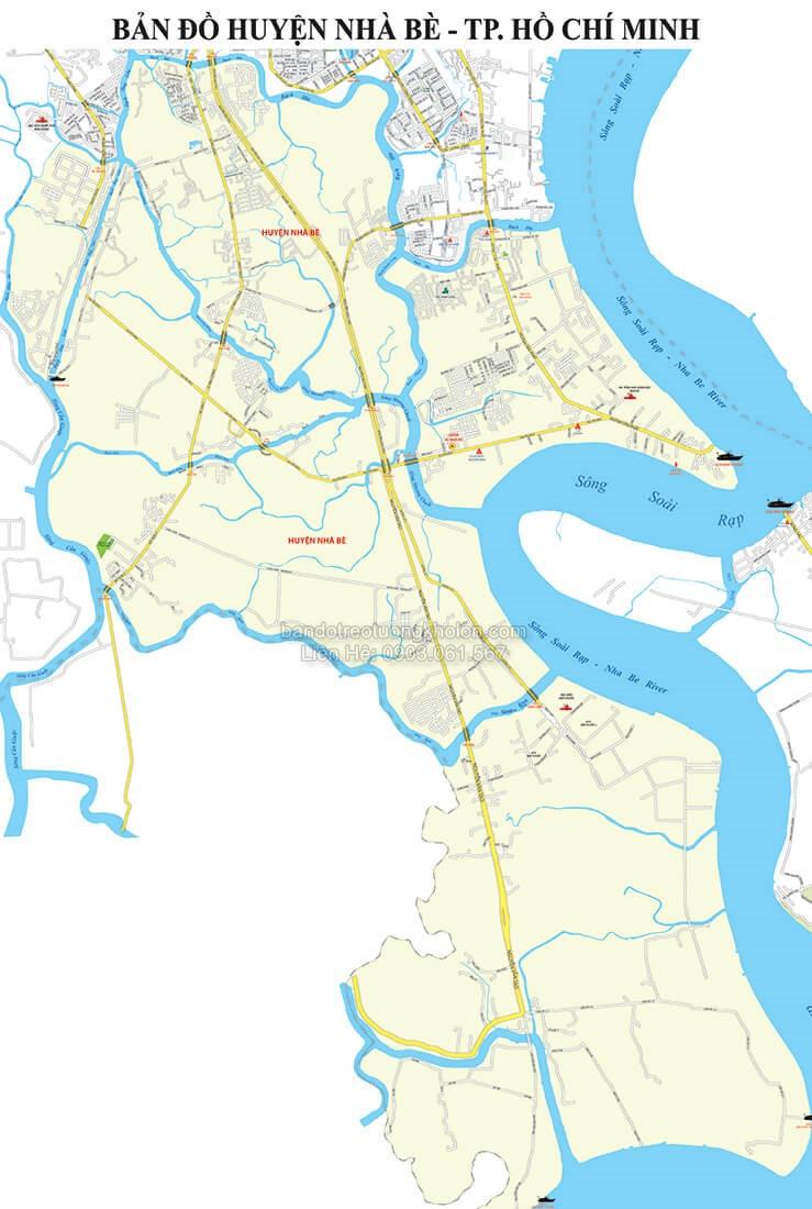 Bản Đồ Huyện Nhà Bè Thành Phố Hồ Chí Minh