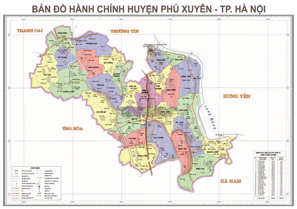 ban do huyen Phu Xuyen thanh pho Ha Noi