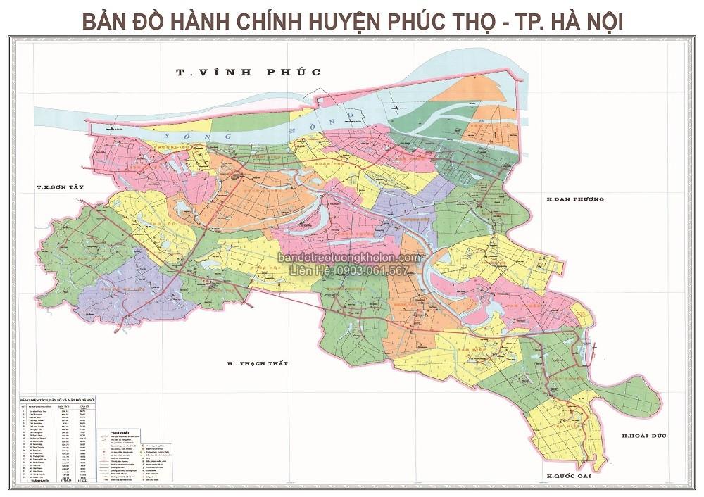 ban do huyen Phuc Tho thanh pho Ha Noi
