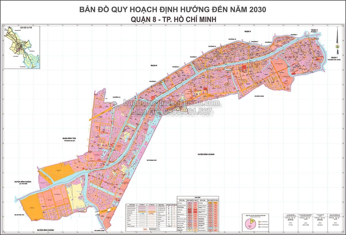 ban do quy hoach quan 8 Thanh Pho Ho Chi Minh