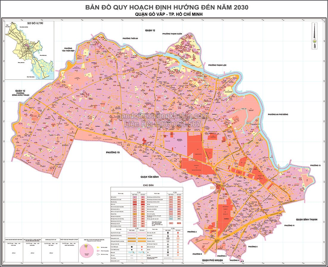 ban do quy hoach quan Go Vap Thanh Pho Ho Chi Minh